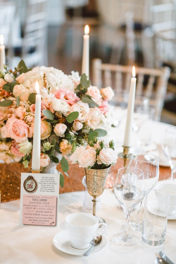 centrepiece wedding