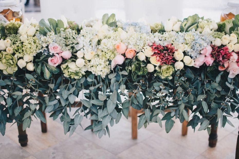wedding flower installation